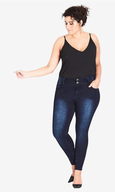 Women's Plus Size Asha Short Skinny Jean - Denim