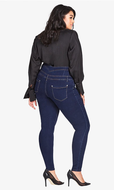 Harley Corset Skinny Regular Jean - denim