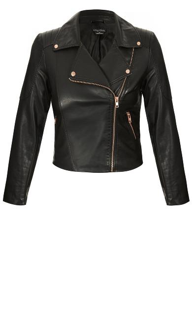 Zip Biker Jacket - black
