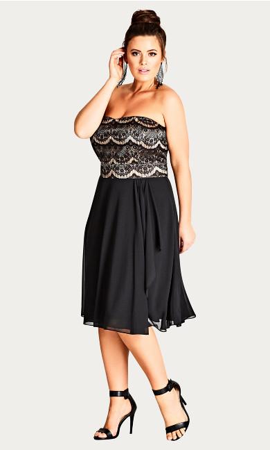 Eyelash Ebony Dress - black