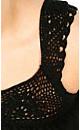 Chiffon Crochet Shoulder Top