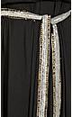 Strapless Knit Beaded Belt Dress