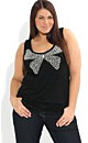 Diamante Sequin Bow Top