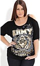 Army Artillery Graffiti Top