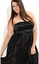 Pleat Beaded Dakota Dress