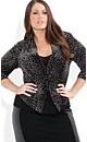 Velvet Leopard Print Jacket