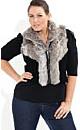 Faux Fur Knit Vest