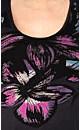 Watercolor Flower Graffitti Top