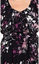 Floral Frill Chiffon Dress