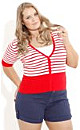 Red Stripe Cardigan
