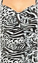 Sweetheart Animal Print Tankini Top