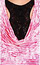 Lace Stripe Cowl Top