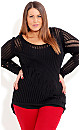 Hi Lo Knit Sweater