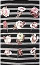 Puff Stripe Rose Top