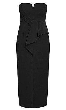 Sleek Split Maxi Dress - black