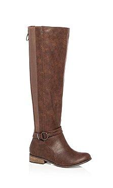 Phoebe Knee Boot - chocolate