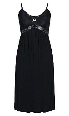 7/8 Lace Nightie - black