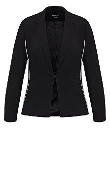 Side Stripe Jacket - black