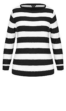 Nautical Stripe Jumper - black