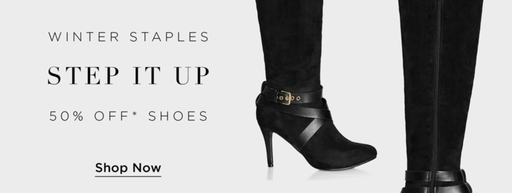 50% Off* Shoes & Boots